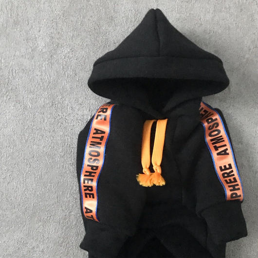 ORIGINAL sporty hoodie . [ black   L・XL・HPS・HPM・HPL ]