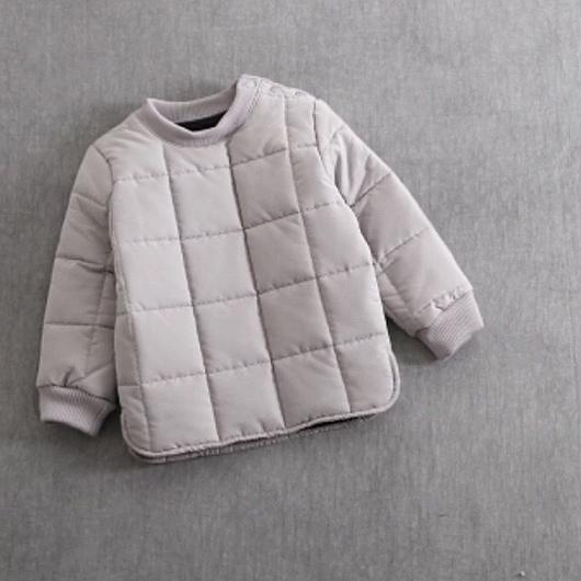 KIDS quilting tops . [ gray ]