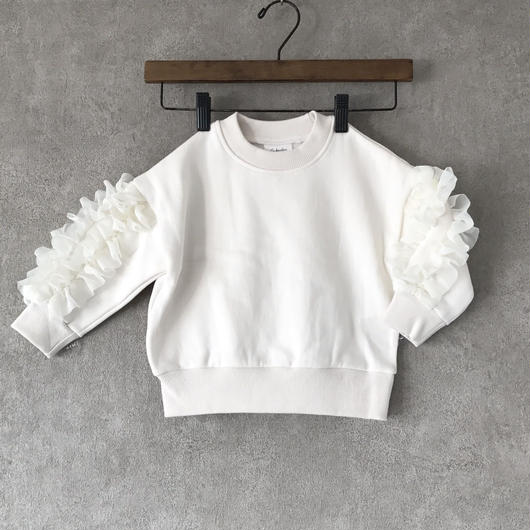 KIDS frill sweat ♣︎  white