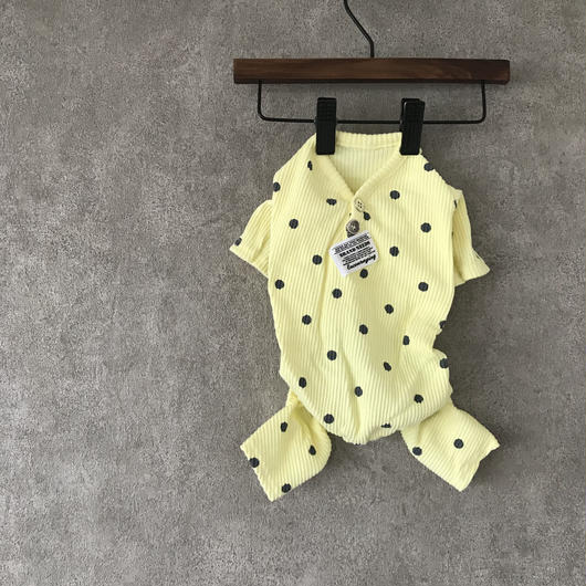 dot rompers . [ yellow ]