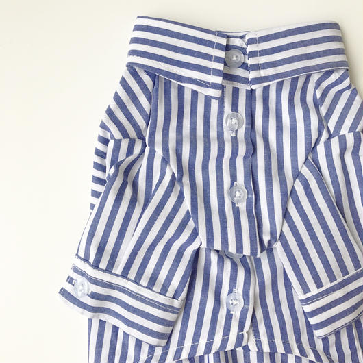 PET stripe shirt ♣︎ ブルー