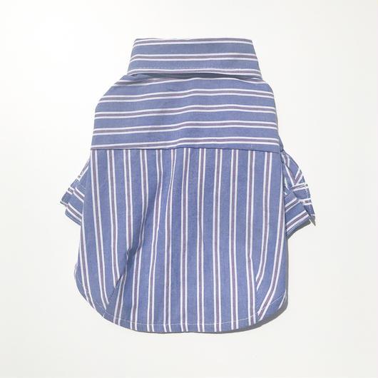 PET mulch stripe shirt ♣︎ ブルー