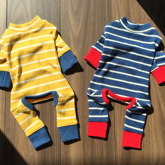 border rompers . [ blue ]