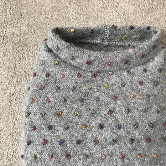 ORIGINAL mulchdot knit tank . [ gray  L , XL ]