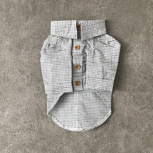 check shirt ♣︎ white