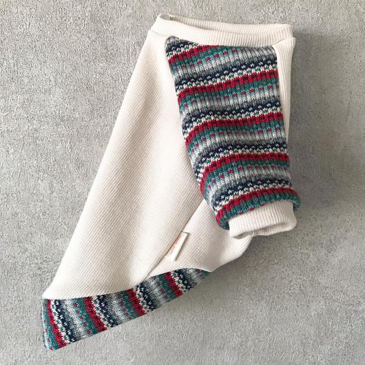 ORIGINAL mulchborder raglan  knit . [ beige  XS , S , M ]