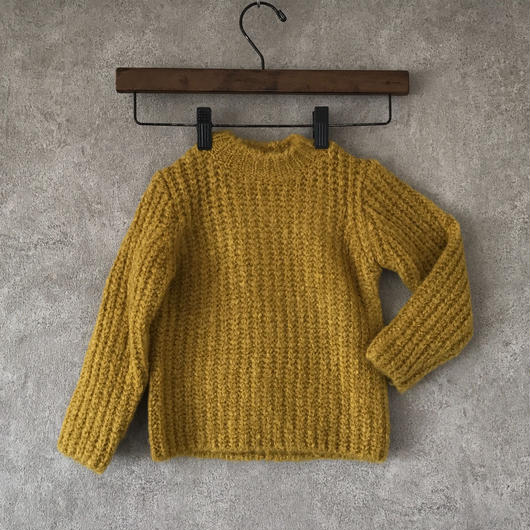 KIDS  basic  knit  ♣︎ yellow  男女兼用