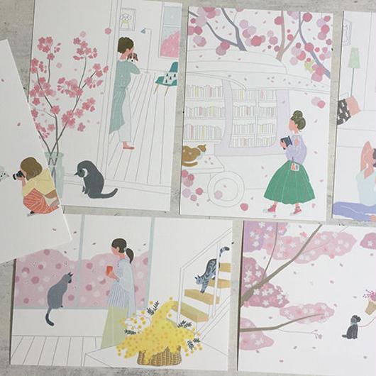 桜ポストカード
