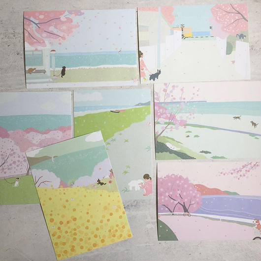 春の海ポストカード