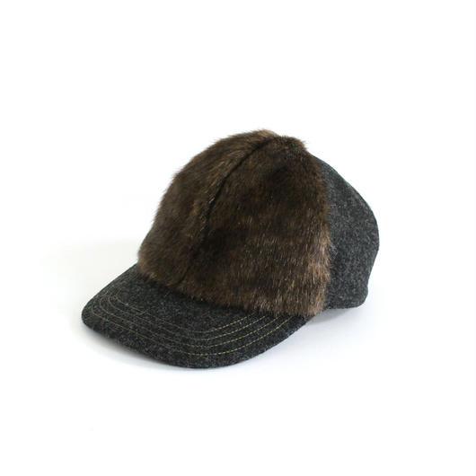 Front Mink Fake Fur Cap