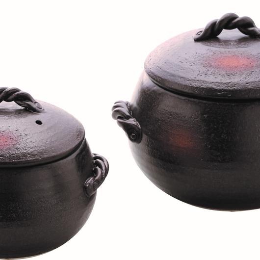 くり型ごはん鍋 ブラウン(1合用) 98-388-08