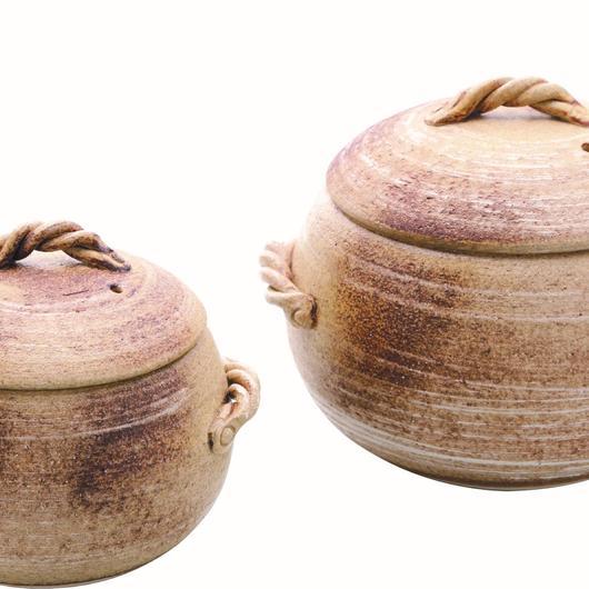 くり型ごはん鍋 ライトブラウン(3合用) 98-388-07
