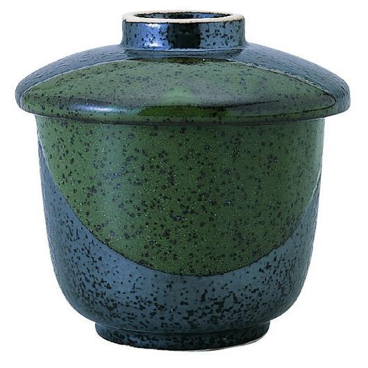 ブラック&グリーン 茶碗蒸碗 98-476-06