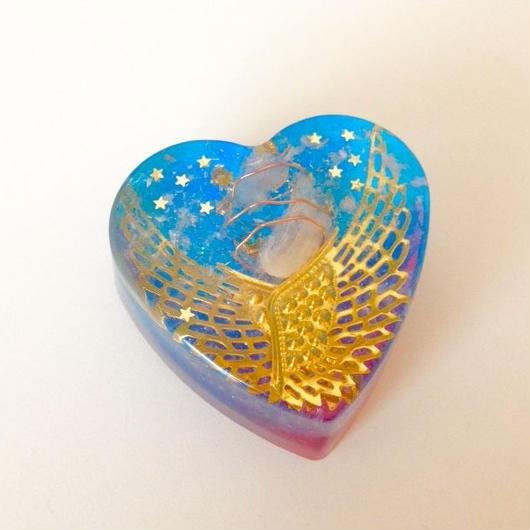 【浄化と深い癒し!】ハート型オルゴナイト