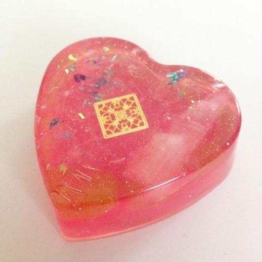 ハート型オルゴナイト<ピンク>