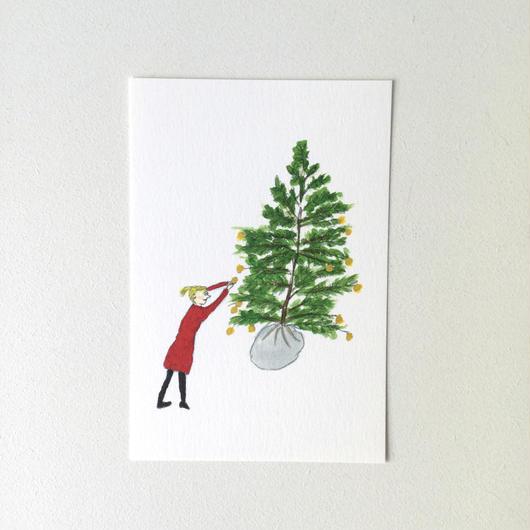 ポストカード クリスマスツリー