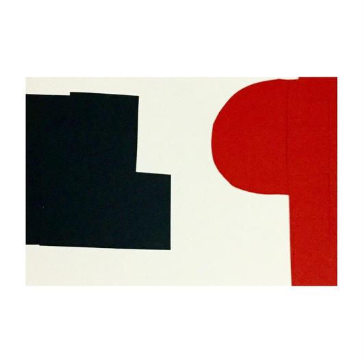ポストカード  赤と黒