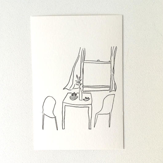 ポストカード 窓辺の風景