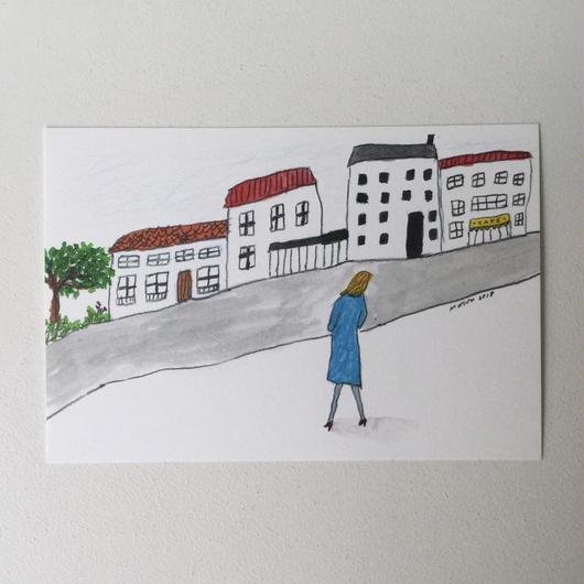 ポストカード サンドリーヌの街