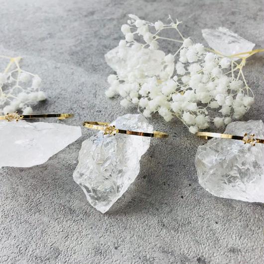 ハーキマーダイヤモンド・バングル
