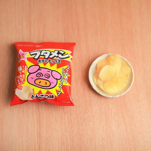 ブタメン ポテトチップス とんこつ味 48g