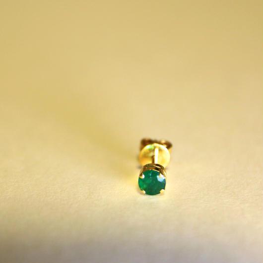 Emerald Solo Earring