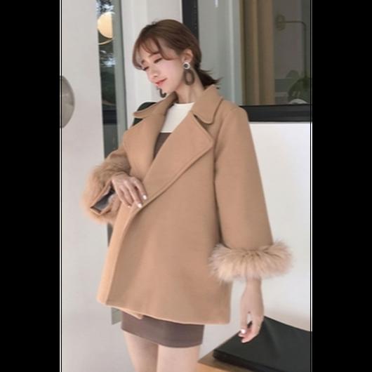 ファーデザインジャケットコート