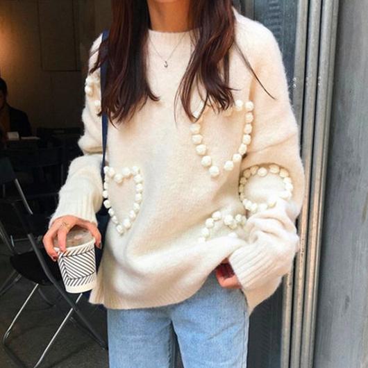 bonbonハートニットセーター