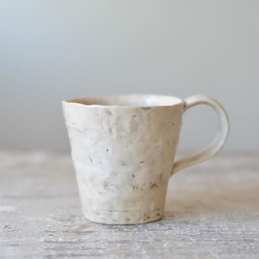 bonoho 白いマグカップ(透明釉薬)