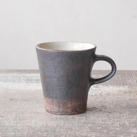 螢松窯 黒いカップ