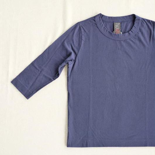 homspun  天竺七分袖Tシャツ・ネイビー