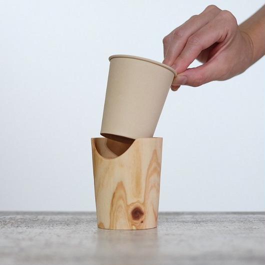 FUQUGI 木製カップホルダー(実物写真) 5