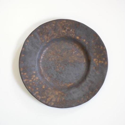 Bonoho 27センチ 黒いリム皿(現品写真)