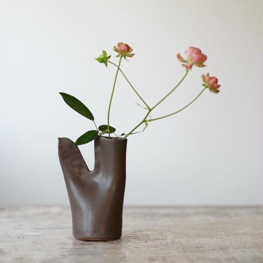 teto ceramic 鳥の一輪挿し(錆鉄)