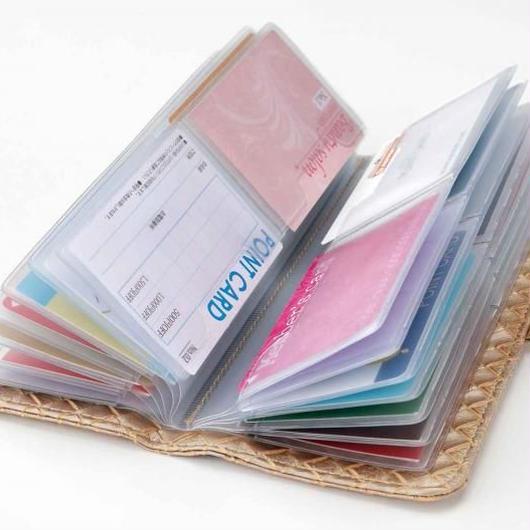52枚 収納可!カードケース  シャンパンゴールド