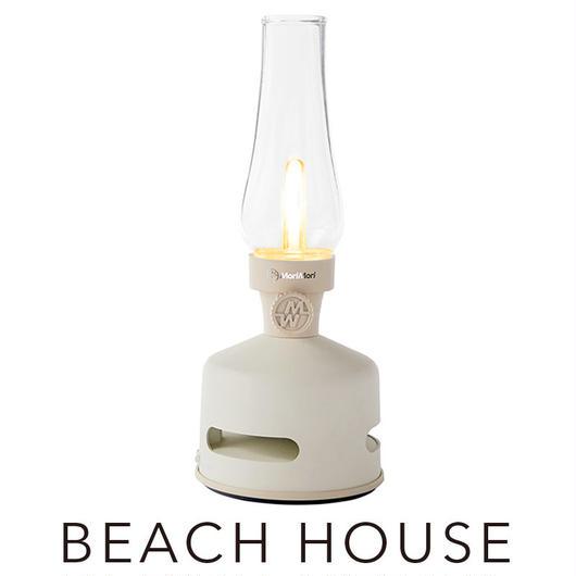 MoriMori LED ランタンスピーカー BEACH HOUSE (ホワイト色) FLS-1704- WH