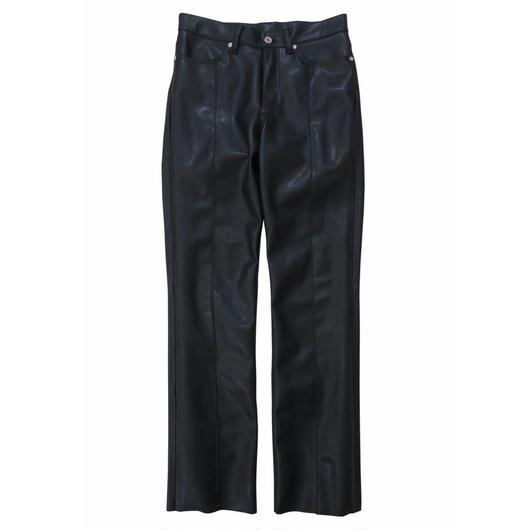 2 PANELS LEATHER TROUSERS / BLACK