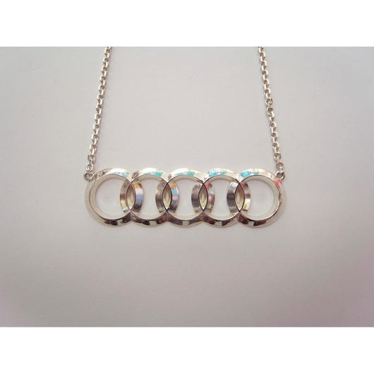 A-17SS-RIN-A 5rings necklace