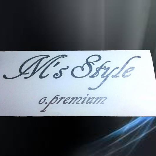 M'sStyle o.premium スポンサーステッカー シルバーラメ
