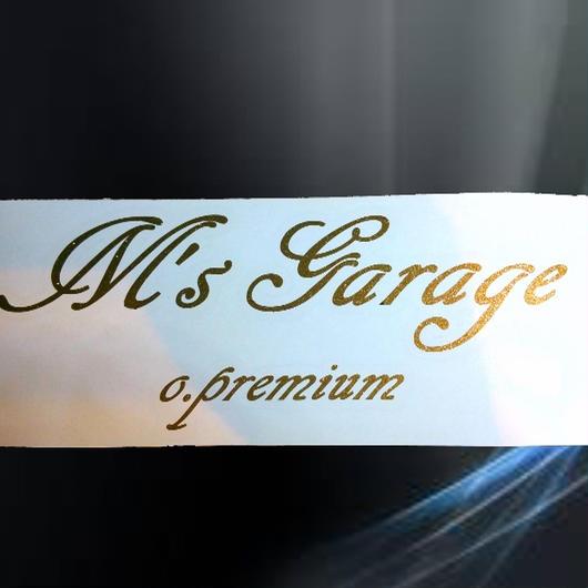 M'sGarage o.premium スポンサーステッカーゴールドラメ