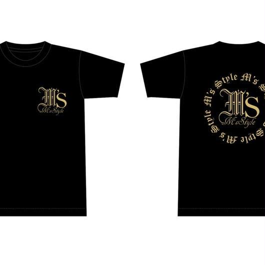 (予約受付中) M'sStyle(style2) Tシャツ 両面ゴールドラメプリント