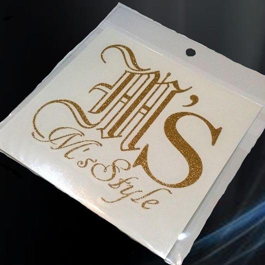 (New)M'sStyleロゴステッカー/ゴールドラメ