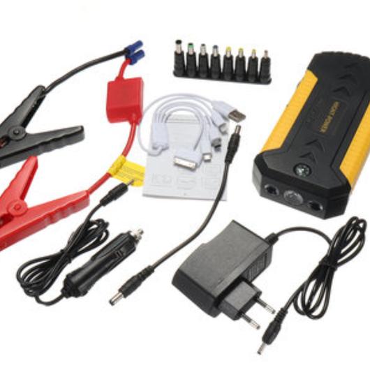 ジャンプスターターUSB緊急充電器ブースターパワーバンクバッテリー