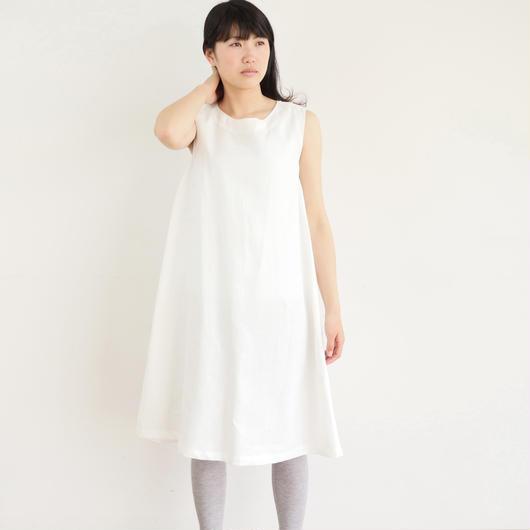 【受注製作】エシカルヘンプサイドプリーツワンピース 白色