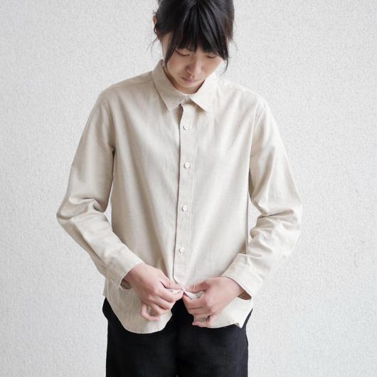 エシカルヘンプマニッシュシャツ プレーンタイプ