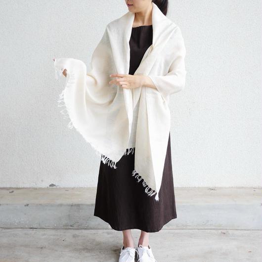 【再入荷】エシカルヘンプ手織りストール 生成 M