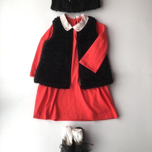 dear muu muu / muu OVER T DRESS  RED
