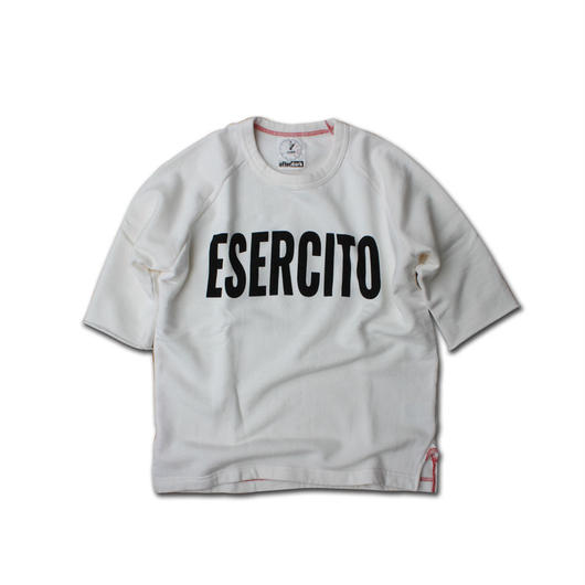 HALF SLEEVE PRINT SWEAT SHIRT ESERCITO VINTAGE WHITE