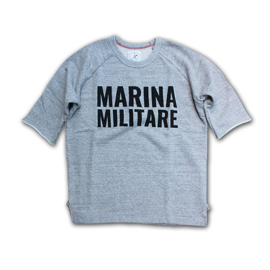 HALF SLEEVE PRINT SWEAT SHIRT MARINA MILITARE GRAY