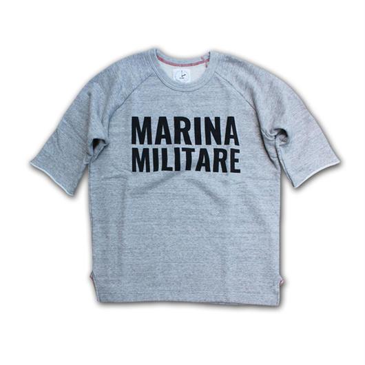 HALF SLEEVE PRINT SWEAT SHIRT MARINA MILITARE GRAY